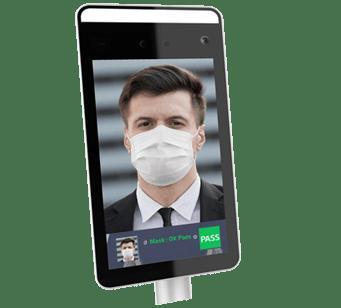 Tablette contrôle port du masque de protection